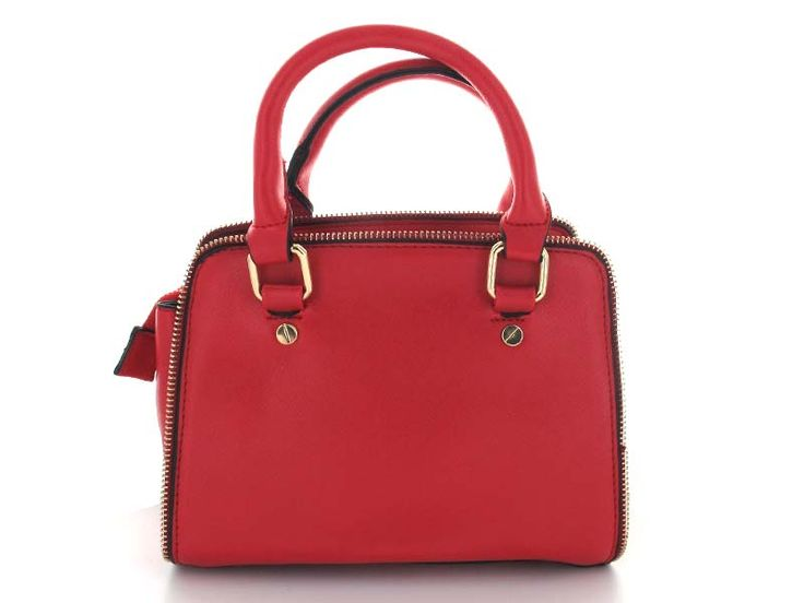 Red Crossbody with Zipper Detail - An edgy twist on a classic silhouette gives this bag a unique yet understated look and feel. Wear as a handbag, or attach included strap for effortless hands-free style.   Available in; Black and Red.