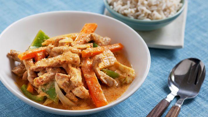 MatPrat - Thaigryte med strimlet svinekjøtt