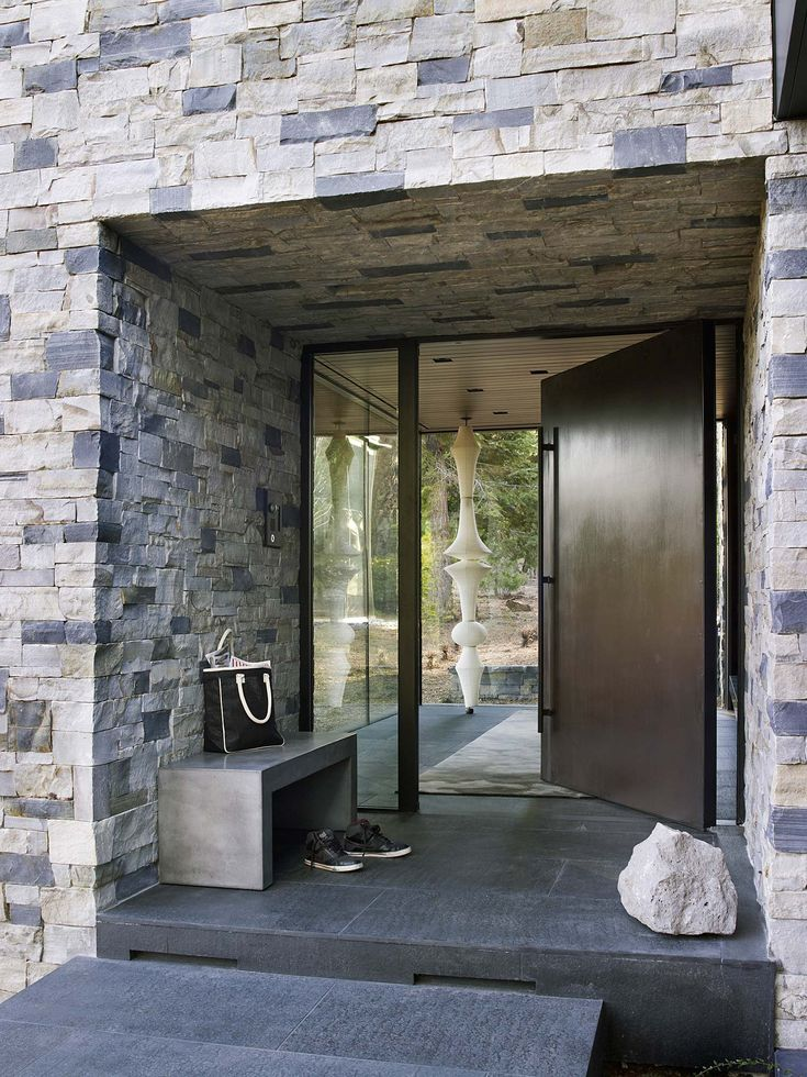 martis camp retreat jamie bush 02 1 kindesign modern front door - Modern Front Doors