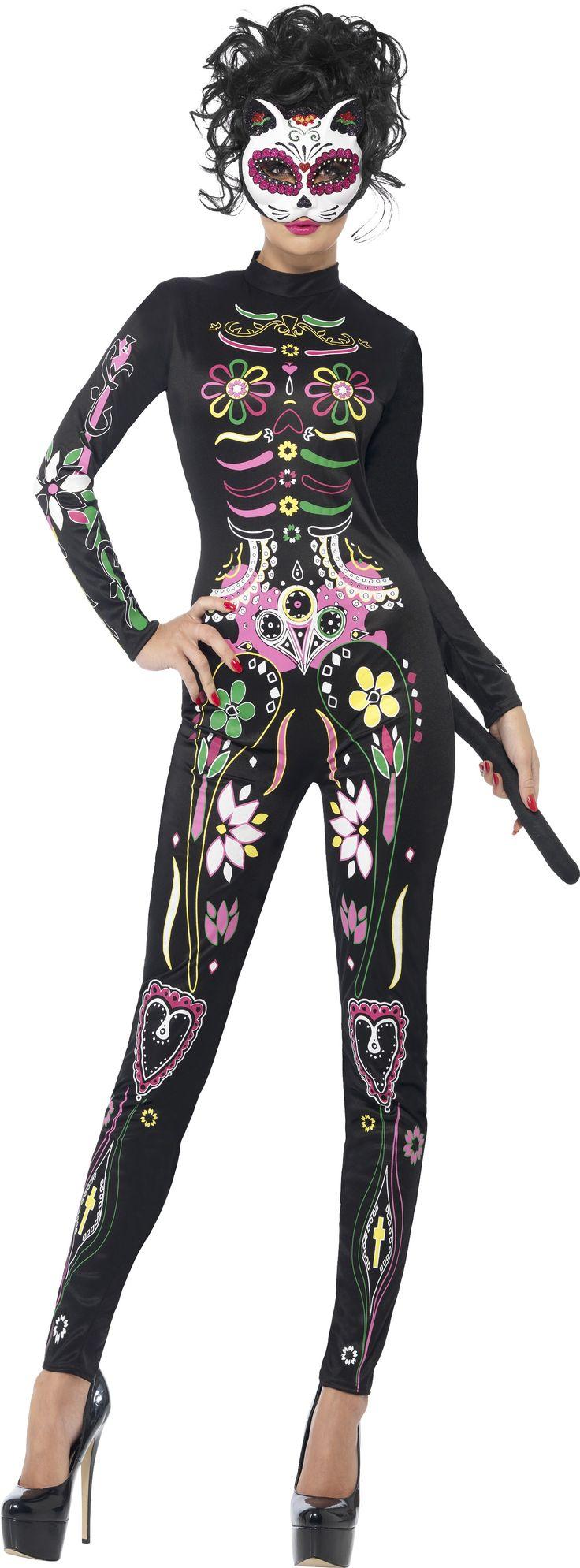 Smiffys Sugar Skull Cat Costume