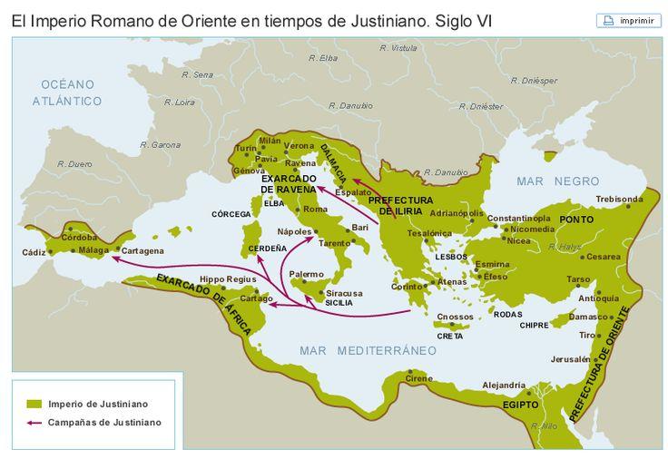 Territorio ocupado por el Imperio Bizantino