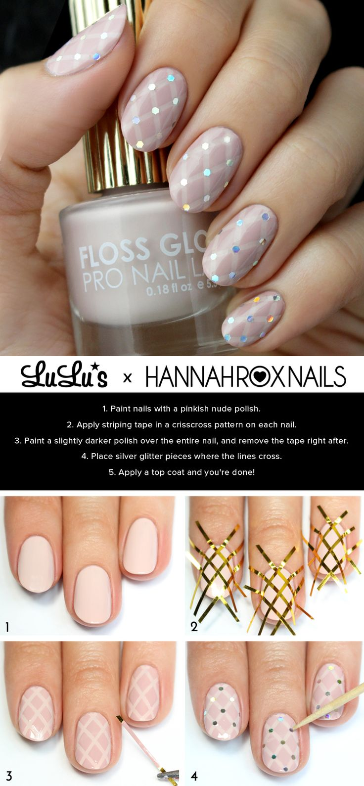 Mani Monday: Nude Quilted Nail Tutorial at LuLus.com!