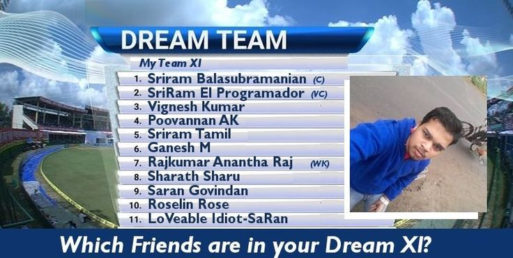 Which Friends are in your (Cricket) Dream XI?
