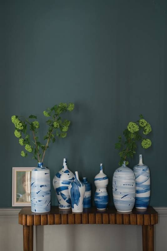"Farrow & Ball Number 289 (Inchyra Blue) ""I love this blue,"" she gushes. ""It's something that can be used instead of a dark gray, but it has so much more life to it."