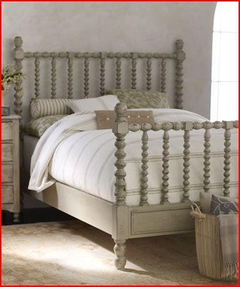 love the colors - so muted. I wonder if I repainted the old bedroom set this color it would look this good?