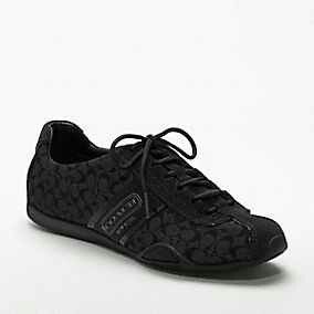 Coach tennis shoes, all black