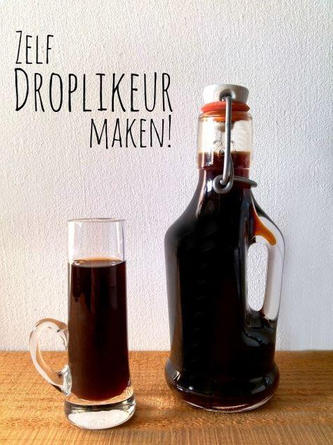 Droplikeur maken is veel simpeler dan je denkt; lekker om in de kast te hebben staan en als je last hebt van je keel! :)