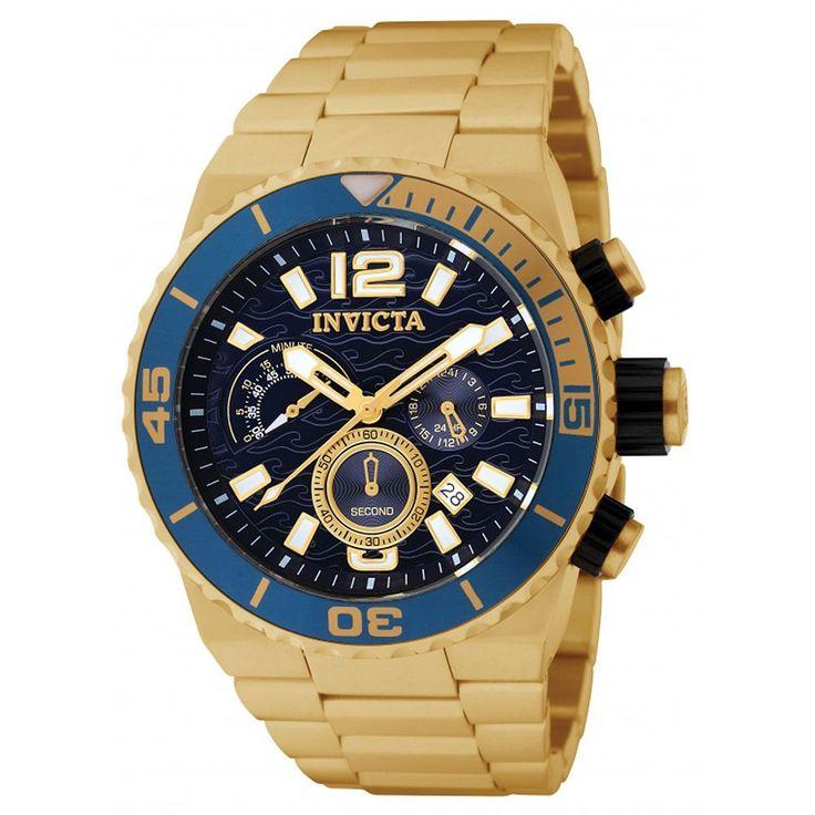Invicta 1344 Men's Divers Quest Chronograph Gold Tone Watch