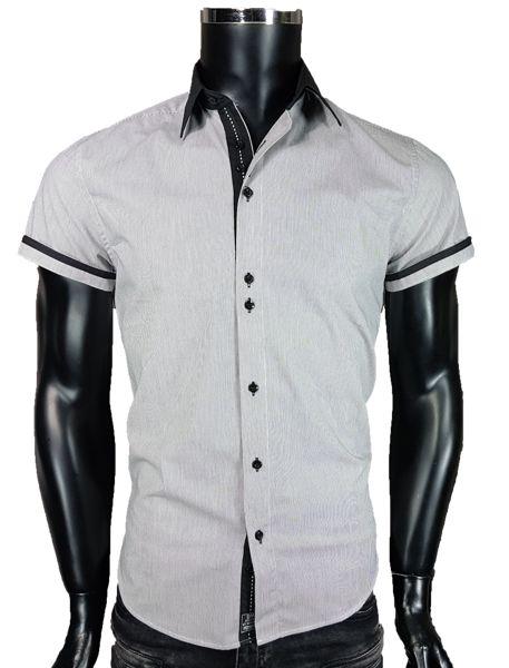 Koszula męska w kolorze szarym - - Koszule męskie - Awii, Odzież męska, Ubrania męskie, Dla mężczyzn, Sklep internetowy