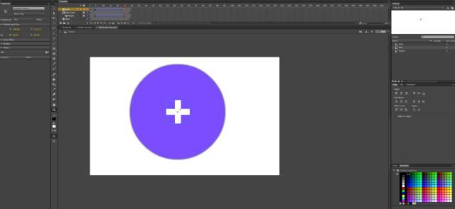 Create A Material Design Floating Action Button In Adobe Flash Professional CC