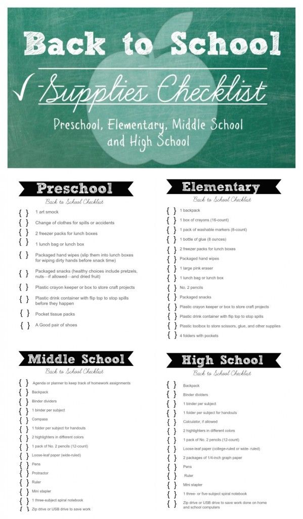 Back to School Checklists FREE Printables