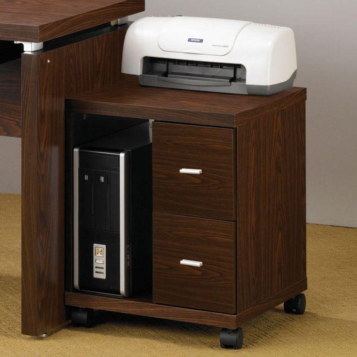 Coaster Oak Transitional File Cabinet