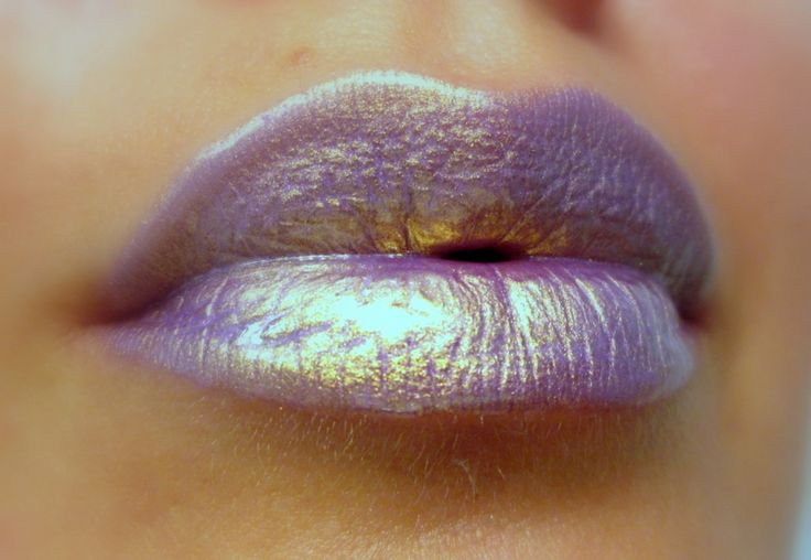 AstroLilac - Golden/Lilac Lip gloss - $9.69 USD - http://ninjacosmico.com/12-holographic-fashion-items/5/