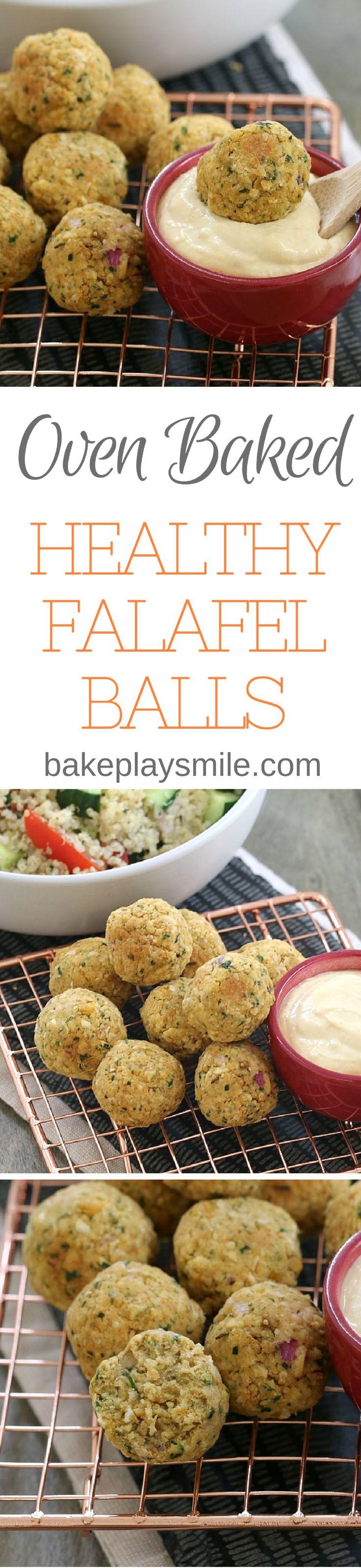 Oven baked falafel balls