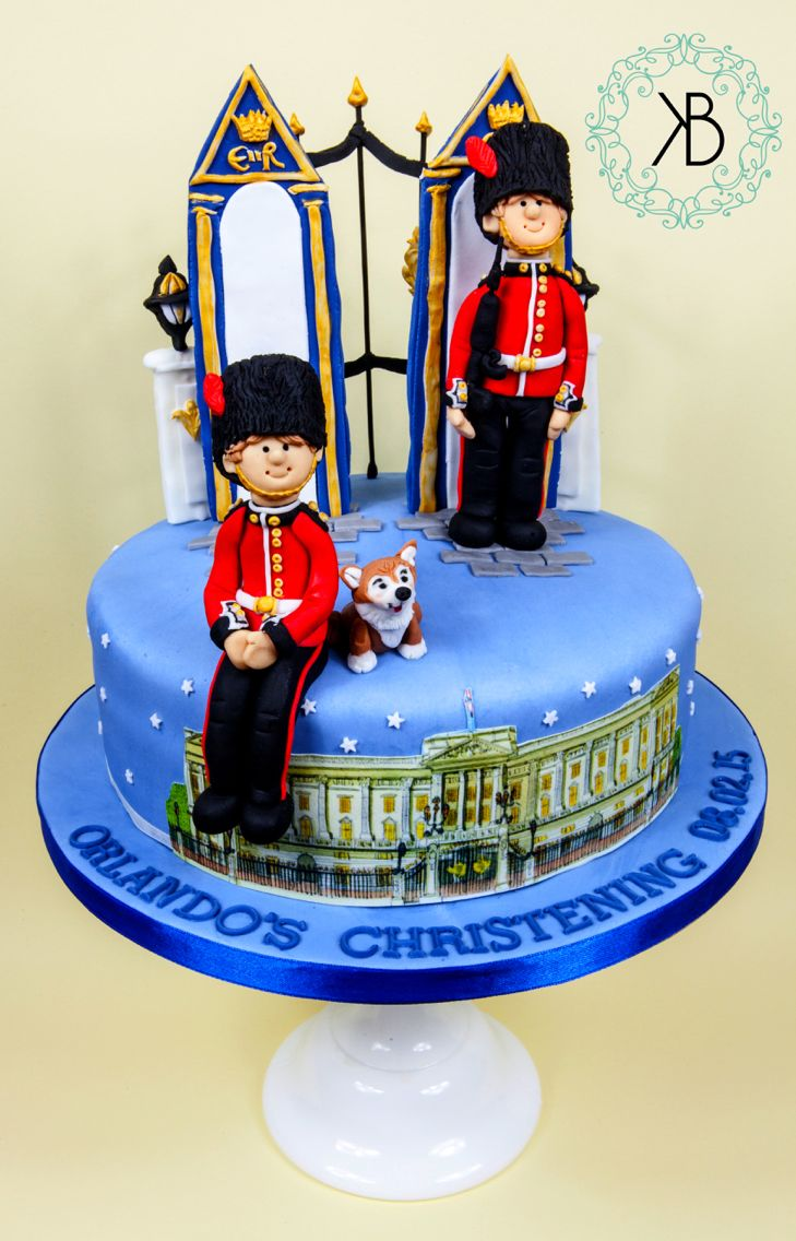 My fondant Royal cake with Coldstream Guards, sentry boxes, Buckingham Palace and a corgi. All edible. Go to Katie Bakes London on Facebook or contact katharinebanks@hotmail.com for further info!
