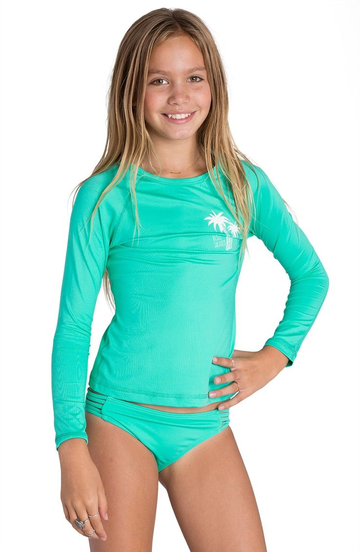 Billabong Sol Searcher Long Sleeve Rashguard Big Girls available at Nordstrom  Kids Clothes