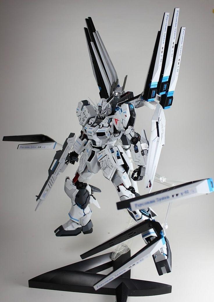MG 1/100 Nu Gundam Ver. Ka W Funnel Destroyer - Customized Build  Modeled by kouichi  #gunpla #gundam