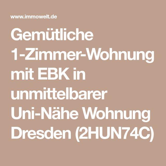 Gemütliche 1-Zimmer-Wohnung mit EBK in unmittelbarer Uni-Nähe Wohnung Dresden (2HUN74C)