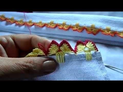 Barradinho de Crochê Fácil de Fazer # Borboletas - YouTube