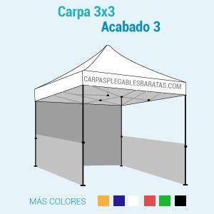 Carpa 3x3 acabado 3