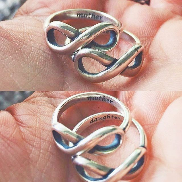 We love how this mother and daughter wear matching engraved Infinity Rings. What's your James Avery tradition? #jamesavery