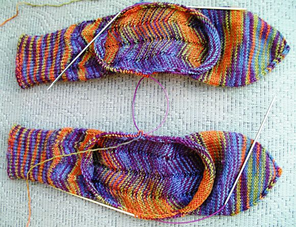 Unusual Knitting Techniques : Unique afterthought heel achilles heal socks knitty