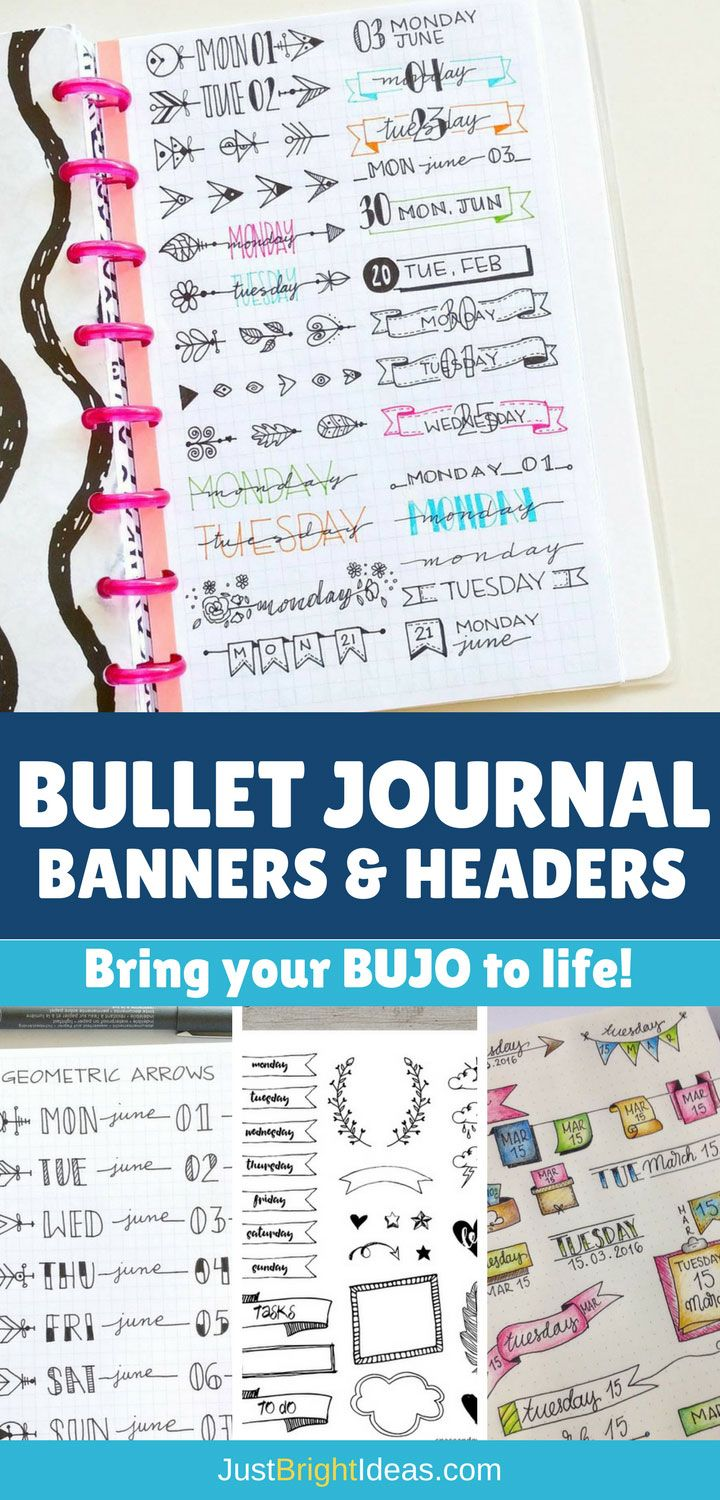 You don't have to be an artist to bring your BuJo to life. Check out some of our favourite Bullet Journal banners and headers. And tips to get you started.