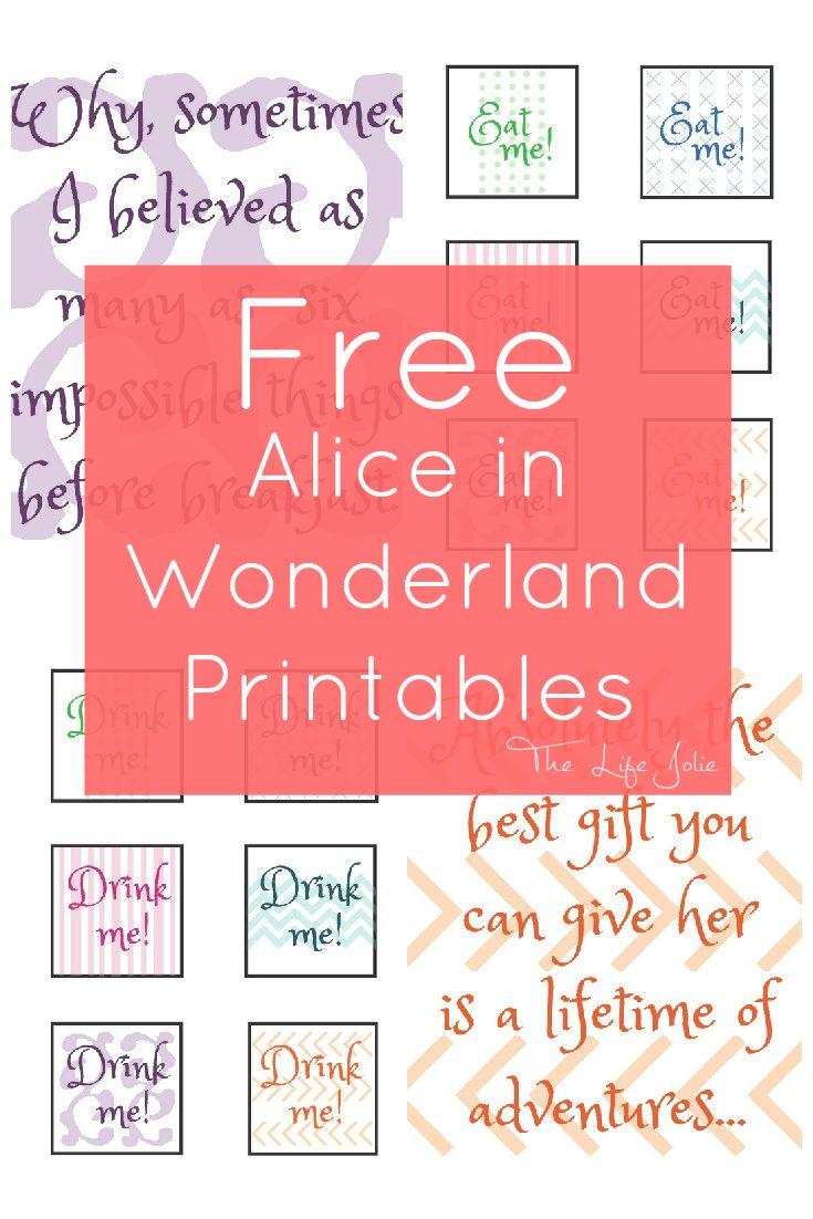 alice in wonderland signs and free printables alice retirement rh pinterest com