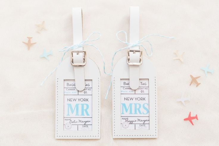 Luggage Tag Wedding Favors  See more here: https://www.etsy.com/shop/lovetravelsfavors