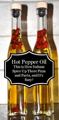 This is how the Italians were spicing up there pizza and pasta in Italy, and it's so easy to make.  Great use for all those hot little peppers from the garden too.