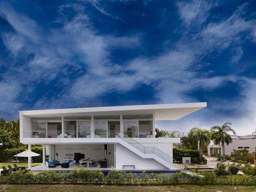 modern home design geometrical accent architecture