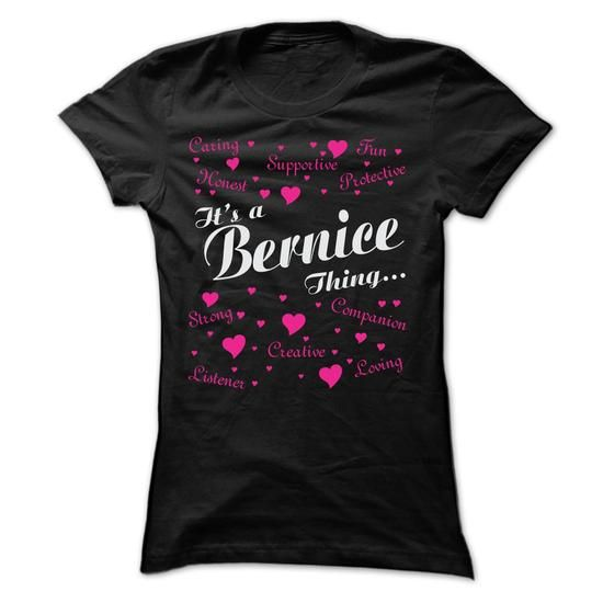 BERNICE THING AWESOME SHIRT - #long #blue hoodie. MORE ITEMS => https://www.sunfrog.com/LifeStyle/BERNICE-THING-AWESOME-SHIRT-Ladies.html?60505