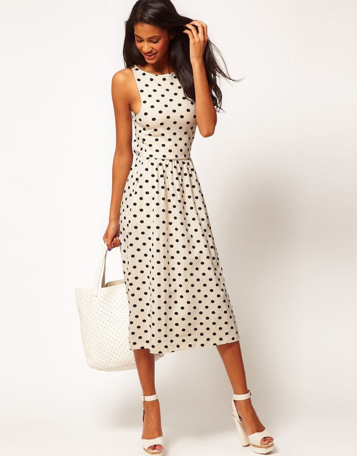 polka dot midi dress / asos: Dots Dresses, Midi Dresses, Fashion, Polka Dots, Style, Asos Dresses, Spots Prints, Dots Midi, Asos Midi