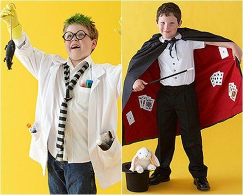 Disfraces caseros de mago y... ¡científico loco!