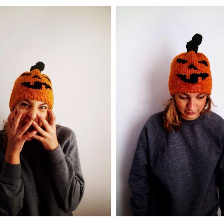 Czapka dynia na jesień i halloween ;)