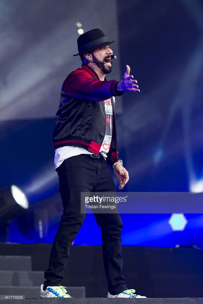 AJ McLean of The Backstreet Boys performs on stage at British Summer Time Festival at Hyde Park on July 6, 2014 in London, United Kingdom.