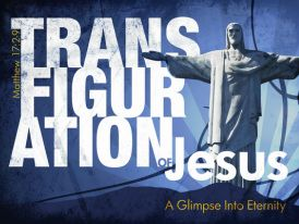The Transfiguration of Jesus (Luke 9:28-36; Mark 17:1 - 13; 9: 2 - 9). We use a PowerPoint, Animoto, and 18 second video clip to tell this story. Actually, we let the power of imagery and music convey the real message.