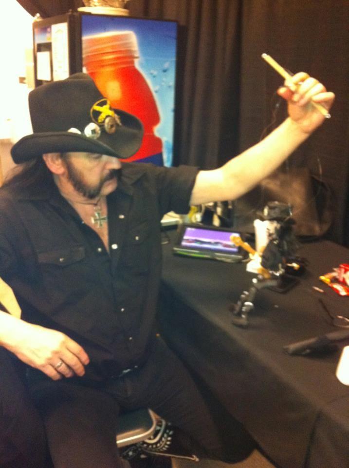 Lemmy Kilmister from Motorhead and his Darrionette marionette