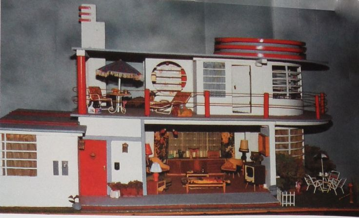 Art Deco house built from a plan published in Popular Mechanics in 1937.