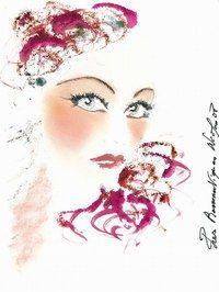Givenchy: Make up 2009: Les Poétiques - Nicolas Degennes  - Skizze von Givenchy Art Director Nicolas Degennes für die Kollektion Les Poétiques © Givenchy Richtig malerisch geht es diesen Winter im Hause Givenchy zu: Nicolas Degennes...