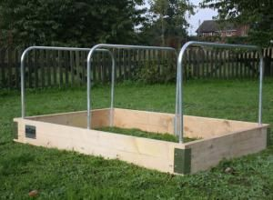 Aluminium hoops and frames for crop protection | Home Grown Revolution