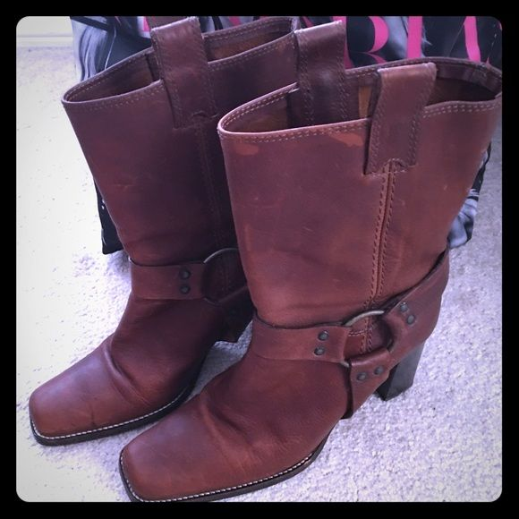 Michael Kors Women Brown Leather Boots Michael Cors women's brown leather boots, Used Michael Kors Shoes Heeled Boots