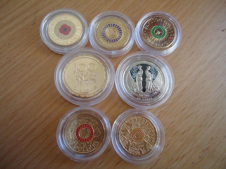 AUSTRALIAN, CANADIAN & NZ COLOURED COMMEMORATIVE COIN SET $2 $1 50c 25c FOR SALE • AUD 120.00 • See Photos! Money Back Guarantee. 16 COLOURED COMMEMORATIVE COIN SET AUSTRALIAN: 2012 RED POPPY, 2013 PURPLE CORONATION, 2014 GREEN REMEMBRANCE, 2015 RED ANZAC, 2015 ORANGE REMEMBRANCE2014 100 YEARS OF ANZAC, 2015 100 YEARS OF ANZAC 262686375520