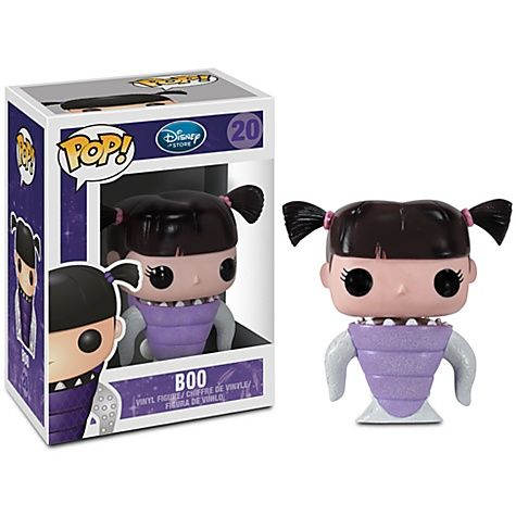 Disney Pop! Vinyl Figure Boo [Monsters Inc.] We sell all Funko Pop Figures, Wacky Wobbelers and many more. Please visit us at www.PopGoesTheFun... or visit our store JVK Diecast & Hobbies 2312 W. Magnolia Blvd., Burbank, Ca. 91506
