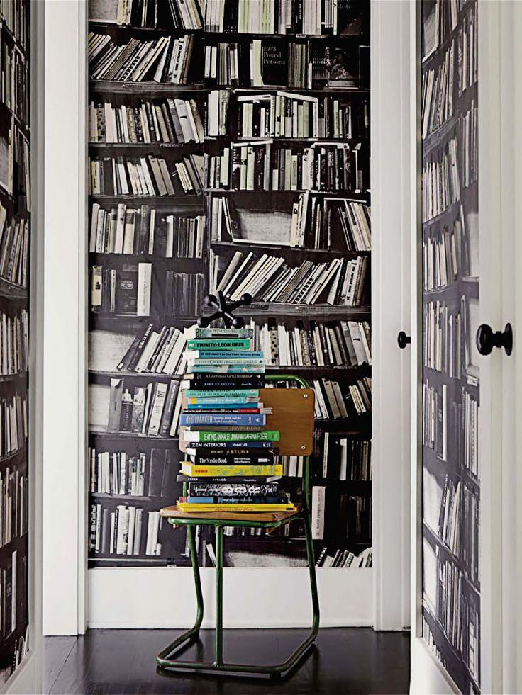 Genuine Fake - Genuine Fake Bookshelf wallpaper from Deborah Bowness