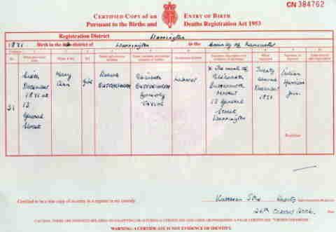 Mary Ann Butterworth - Birth CertificateButterworth Sutcliffe, Mary Ann (1870-1934)   Mary Ann Butterworth - Birth Certificate Submitted by philsilk1 Mary Ann Butterworth - Birth Certificate Attached toMary Ann Butterworth Birth06/12/1871 Death