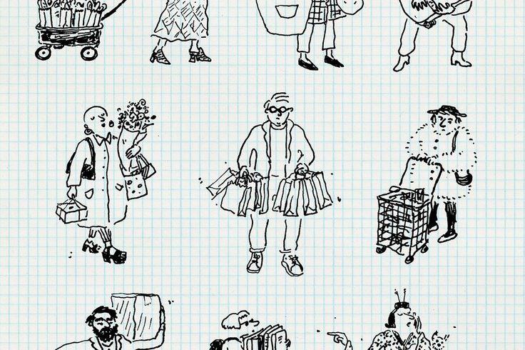 Sketchbook: New Yorkers Carrying Way Too Much Stuff in Tote Bags | Vanity Fair
