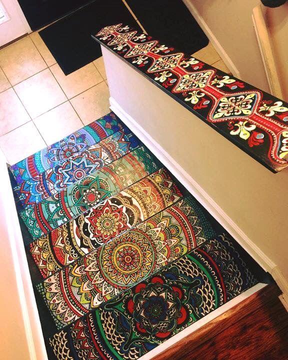 BOHO...amazing stairs!