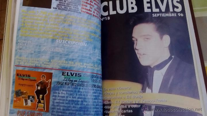 REVISTAS magazine CLUB ELVIS nº 12 al nº 20. Encuadernadas en tapa dura.