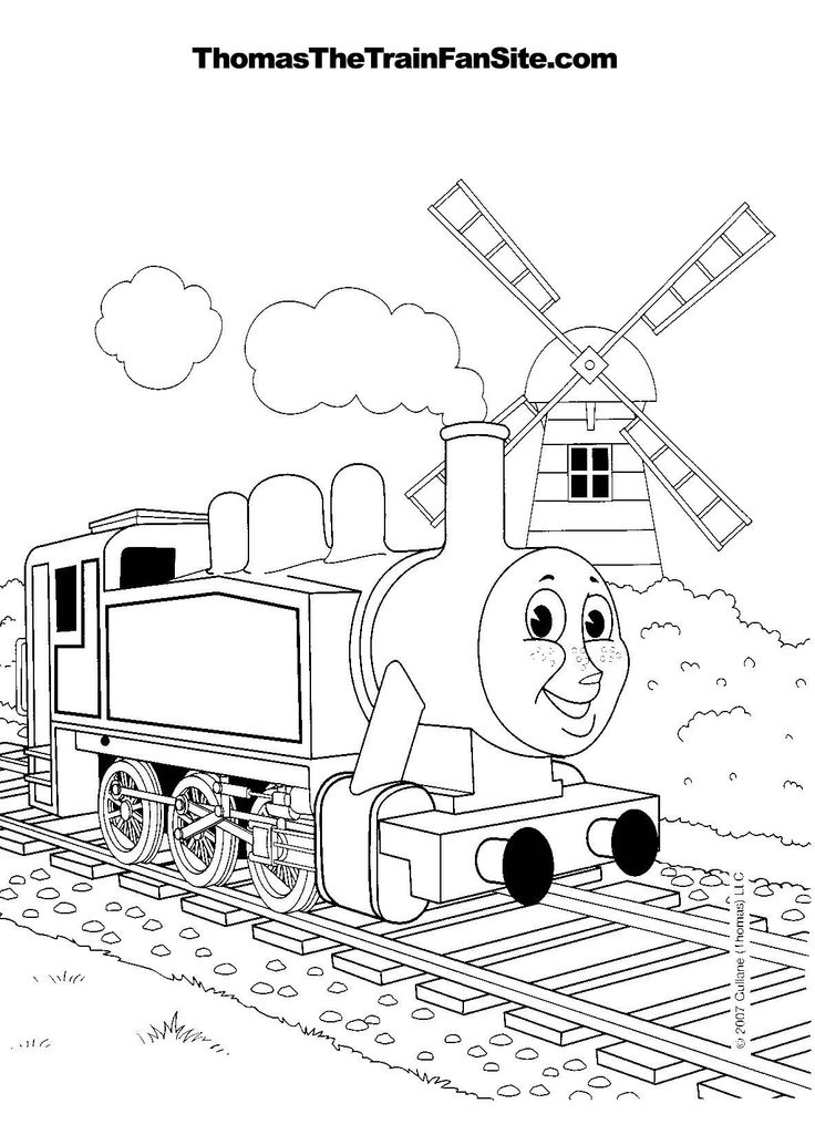 thomas coloring pages train engineer - photo#21